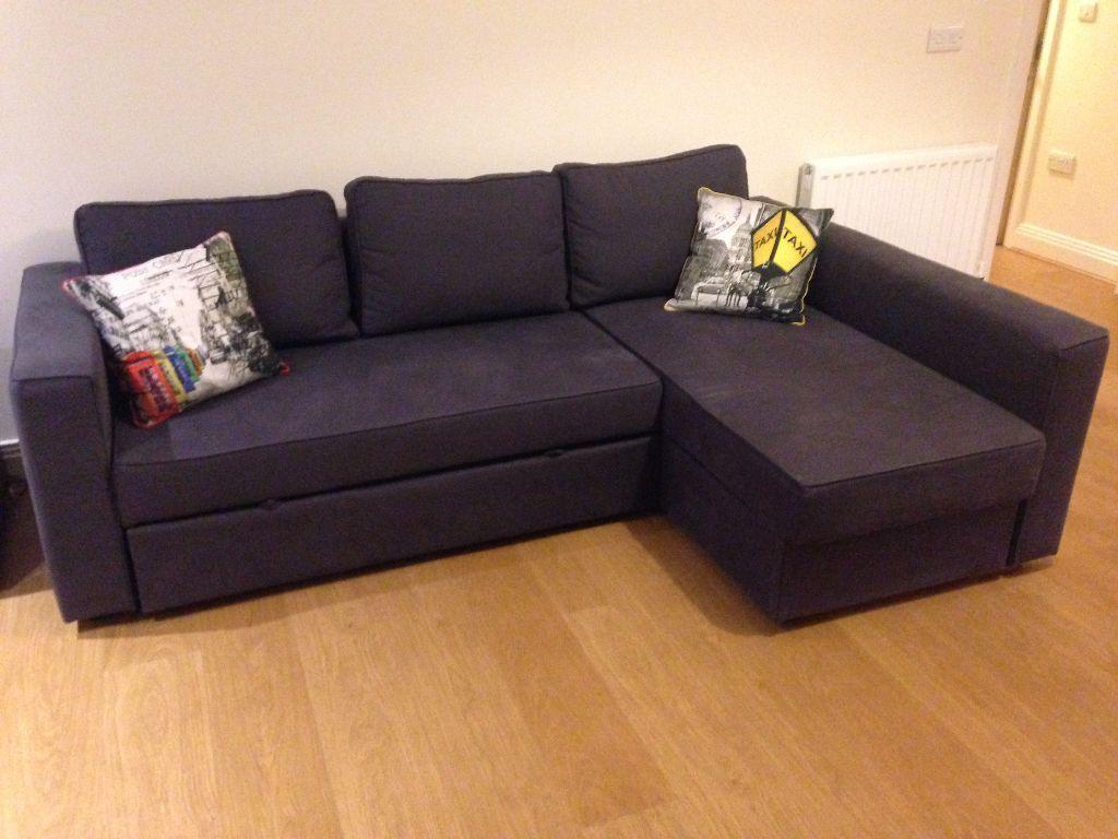 Double Sofa Bed In Dark Blue Ikea Manstad Model In Maidenhead