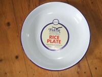 Blue and White Enamel (rice) Plates set of 6