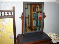 Victorian mahogany toilet swing mirror