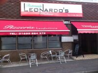 Leonardo's Restaurant looking For : 1 Cleaner, 1 K.P and 1 chief de Partie