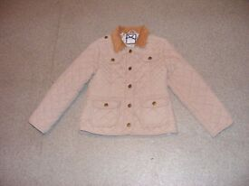 Girls lovely, warm, taupe, Jasper Conran slightly padded jacket age 7-8yrs