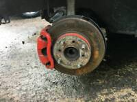 Honda civic ek4 SiR front hubs brake calipers upgrade breaking vti b16