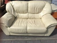 LEATHER SOFA 2 SEATER NICE AND COMFY
