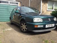 VW Golf III TDi 90bhp green sunroof drive away car