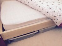 IKEA single bed complete with mattress