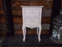 FRENCH STYLE BEDSIDE / LAMP TABLE IN VERY GOOD USED CONDITION COLLECTION ONLY 07486933766