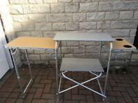 Foldaway Camping Kitchen Table / Unit