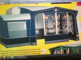 Dorema vitesse XL porch awning & bedroom