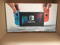 Nintendo Switch in neon - brand new