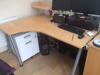 """Ikea """"Galant"""" Desk with riser. Large, so might not fit in a car."""