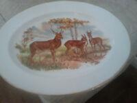 china plate deer print