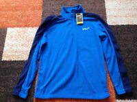 Mens/ Boys Gelert Blue Fleece Half Zip up jumper size M but more a size SM BNWT Will post