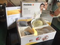Medela Swing Electric Breast Pump with Calma Boxed rrp £ 135.00