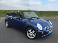VERY LOW MILEAGE AUTOMATIC 2007 MINI COOPER CONVERTIBLE! FULL SERVICE HISTORY AND NEW MOT! GREAT CAR
