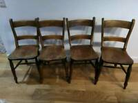4x antique kitchen chairs