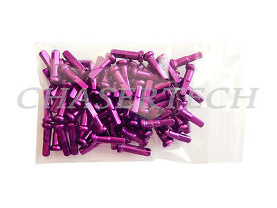 MISSION ALLOY ANODIZED RED 14G 2.0MM--50 IN A BAG BICYCLE SPOKE NIPPLES