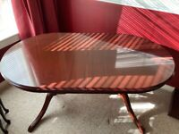 Morris of Glasgow extending Dining table and chairs