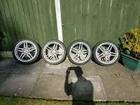 "Suzuki 17"" alloy wheels / low prof tyre"
