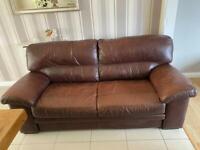 Next 3 Seater Leather Sofa