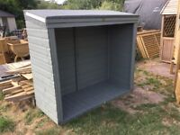Log Store, Shelter, Shed, New, Ready Built. PICK UP TODAY