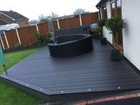 Double Sided Composite grey modern decking boards