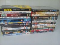 25 assorted dvds wil separate