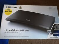 Brand new (never unboxed) Samsung 4k Blu-ray ray player with film included