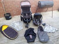 Fabulous quinny buzz in chocolate brown with maxi cosi car sear to match and all accessories