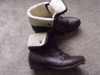 ladies new look winter boots size 5(38) brown
