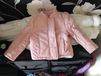 Pink girls coat 9-12 months