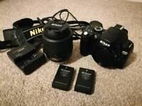 Nikon D60 18-55vr + spare battery