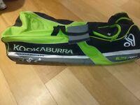 Kookaburra Cricket Holdall/Bag with Wheels - Green/Black/White