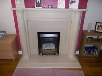 Marble fire surround fantastic condition with free gas fire.