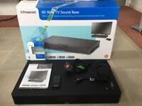 TV SOUND BASE, 60 watt, POLAROID. Complete with all leads boxed with remote and instructions.