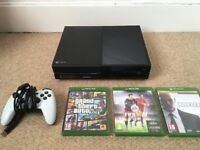 XBOX One 500GB with Controller & 3 Games (Skyrim, FIFA 16, Hitman)..