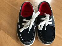 Clarks Navy Deck Shoes - Size 8.5F