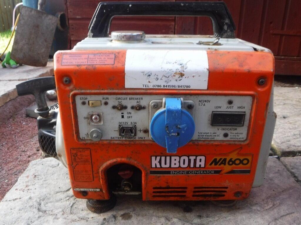 Kubota generator service Manuals