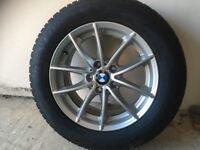4 BMW X3 17 inch Wheels and Dunlop Winter Tyres