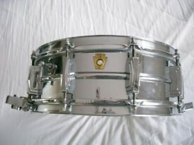 "Ludwig 410 Seamless alloy Supersensitive snare drum 14 x 5"" - Chicago - '61-'68 - Classic vintage"