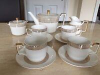 Vintage Fine Bone China Tea and Coffee Set 11 Pieces