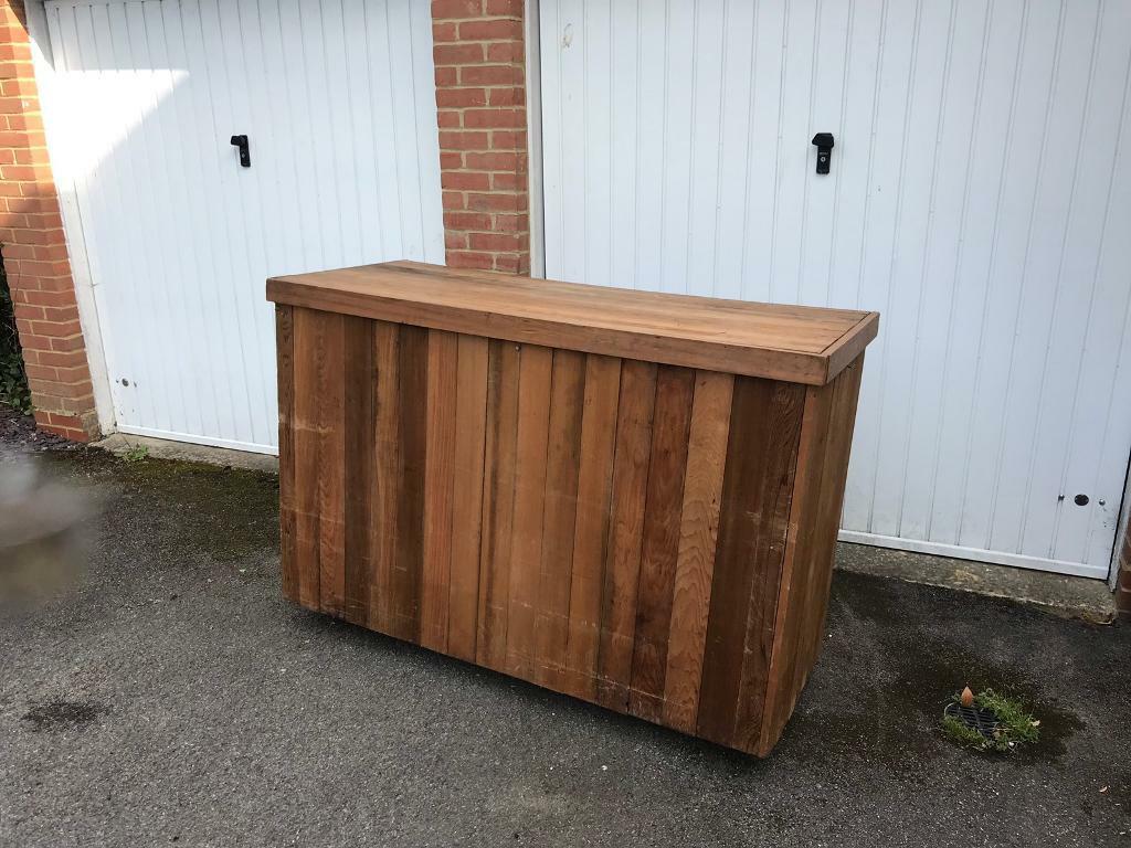 Wooden Mobile Bar Unit On Wheels In Wokingham Berkshire Gumtree