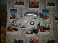 Metal car wall art