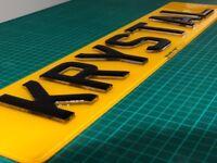 Krystal Pair Number Plates