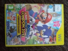 mario and sonic at the london 2012 olymic games - nintendo wii game