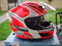 Motorcycle crash helmet made by Nitro size large ex condition