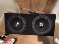Twin JL Audio subs in box