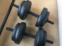 25kg Vinyl Barbell & Dumbbell Set