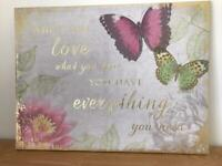 Next floral & butterfly Canvas