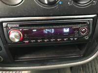 Kenwood car CD player with aux
