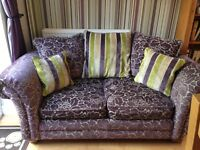 Green/Purple Floral Sofa, 2pc and 3pc sofas